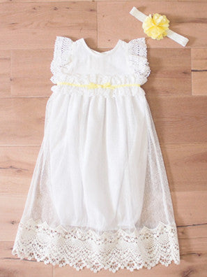 Gorgeous Newborn Gown with Headband