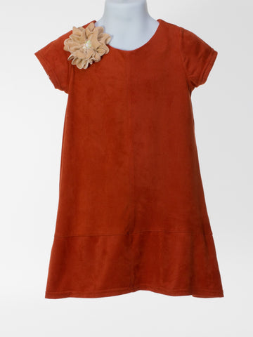 Rust Suede Shift Dress