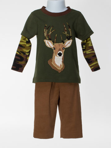 Layered Shirt With Appliquéd Deer