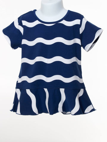 Ocean Wave Short Sleeve Top