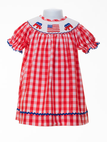 Banana Split GOP Smocked Bishop Dress (SH6)