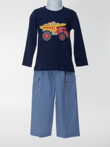 Dumptruck Applique T-shirt and Pants