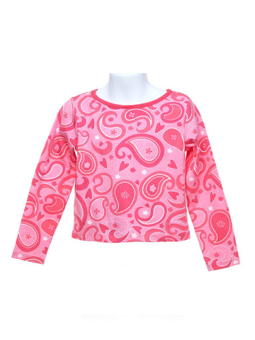 Pink Paisley Top