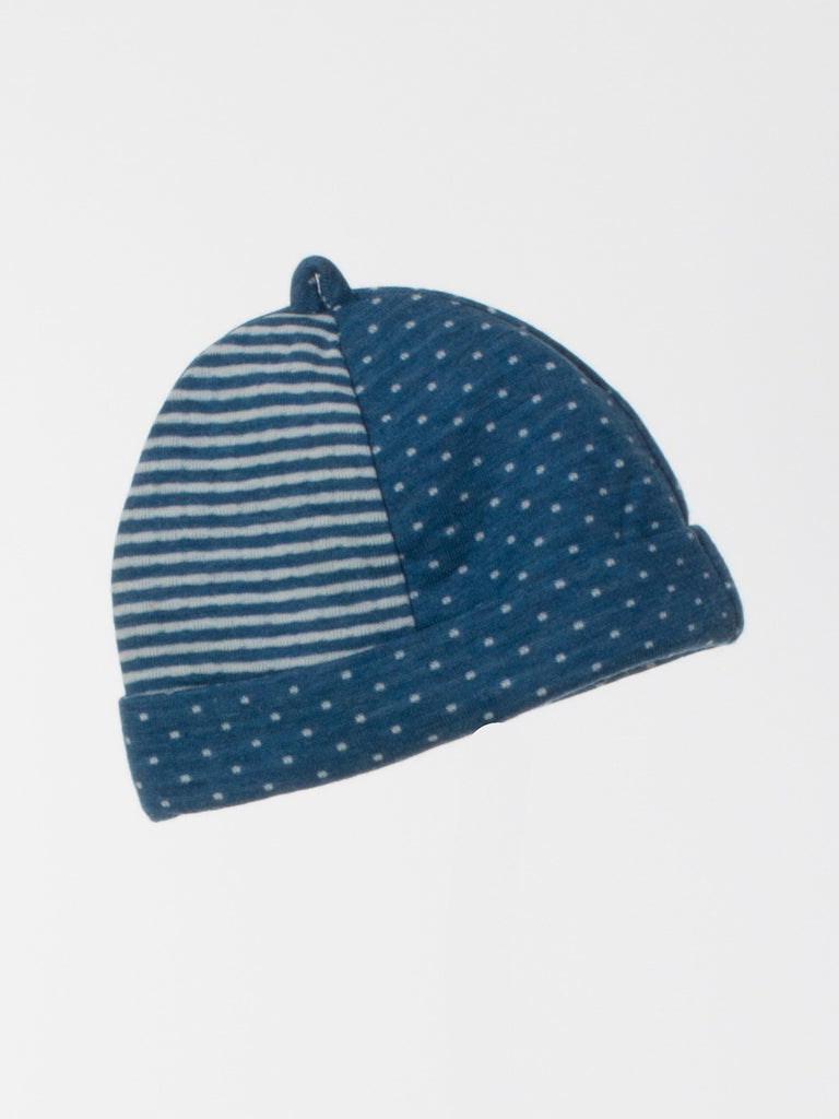 Soft Knit Stripe/Dotted Baby Cap