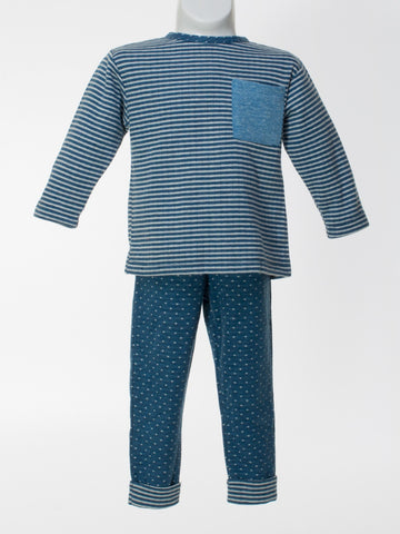 Boys Striped Top and Dotted Pants