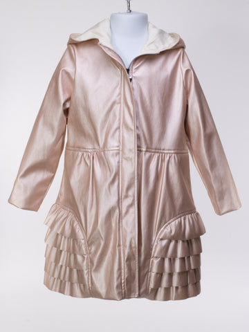 Crystal Raincoat in Pearl Pink