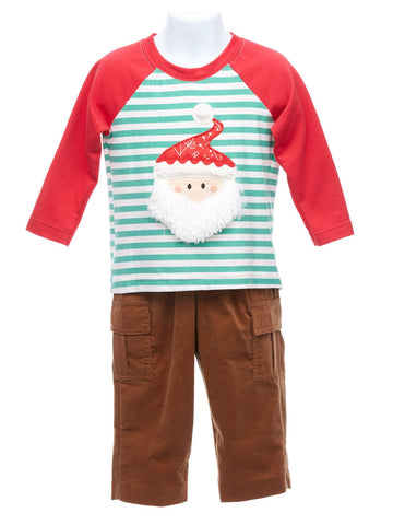 Santa Shirt with Chestnut Pants