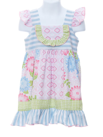 Millie Jay Field of Flowers Bib Panel Dress