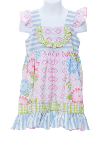 Field of Flowers Bib Panel Dress