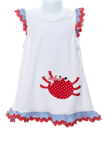 Happy Crab Baby Girl Cover-Up