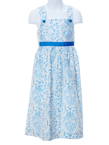 Funtasia Too Blue & White Print Dress