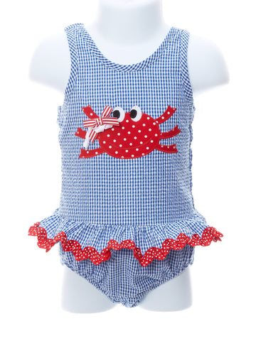 Happy Crab One Piece Toddler Swimsuit
