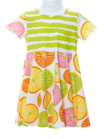 Angel Princess Dress in Citrus