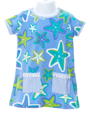 Starfish Top With Pockets & White Capris