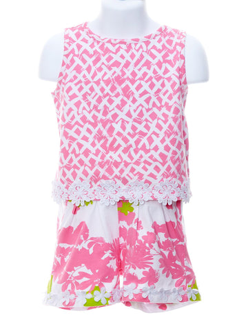 Pretty in Pink Kisses Top & Garden Party Shorts