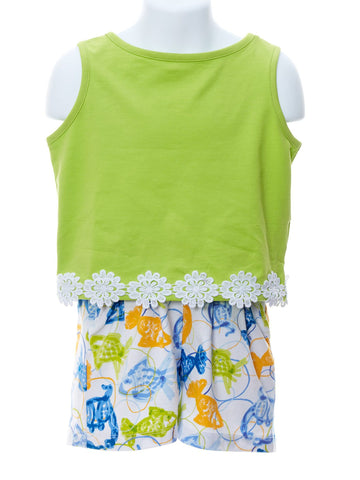 Lime Ciara Top & Schooled Shorts