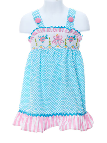 Sealife Inspired Boutique Smocked Sundress