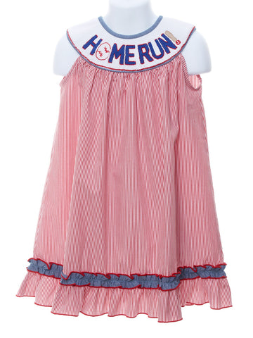 Homerun Smocked Dress