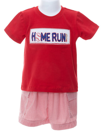 Homerun Smocked Boys T-shirt & Shorts