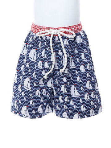 Baby Boy Sail Away Sailboat Swimsuit