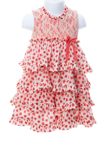 Dainty Heart Coral Dress