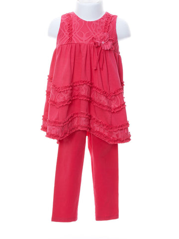 Fresh Raspberry Delight Tunic Set
