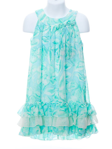Isobella & Chloe A Swirl of Ocean Blue Dress