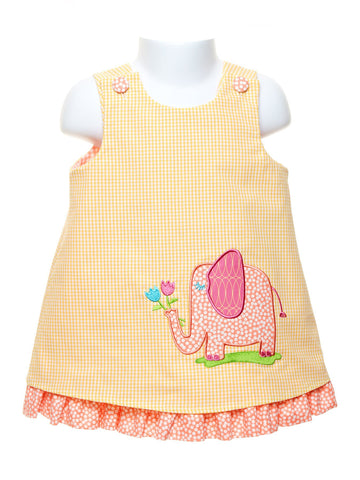Sweet Elephant Reversible Popover and Panty