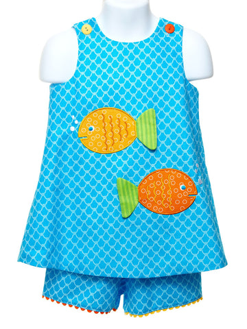 One Fish, Two Fish Popover with Shorts
