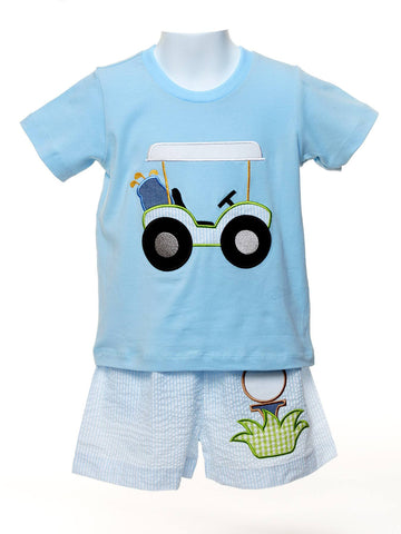 Golf Applique Boys T-shirt and Shorts