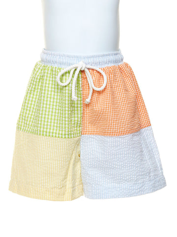Seersucker Block Baby Boys Swimsuit