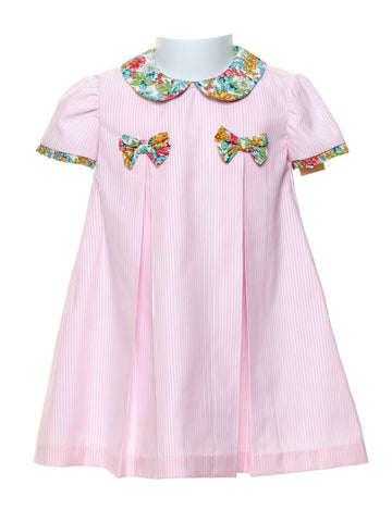 Spring Flowers Pleated Toddler Dress