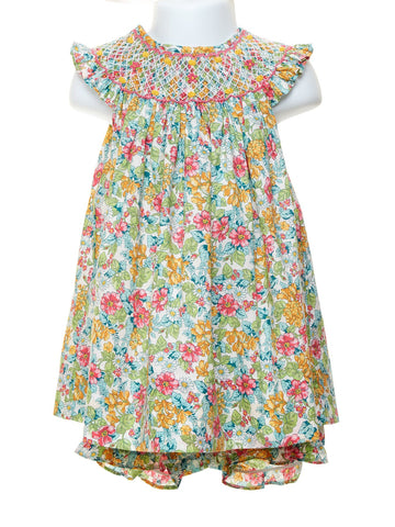 Marco & Lizzy Spring Flowers Bishop Dress and Bloomers