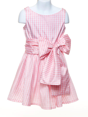 Lola Pink and White Check Dress