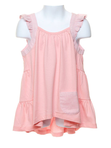 Frilled Singlet Light Pink Girls Top