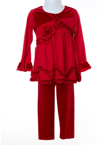 Fashionista Alert! Candy Apple 2-piece Pant Set