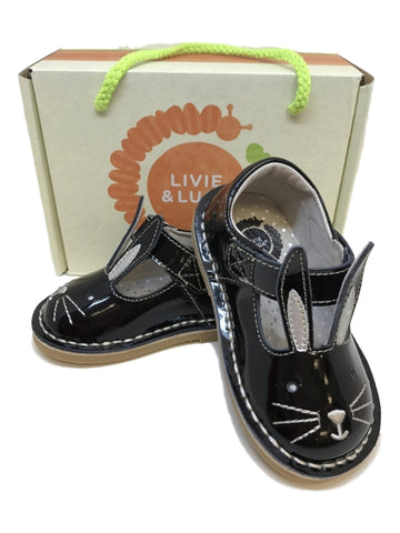 Livie & Luca Molly Bunny Shoe in Black Patent Leather