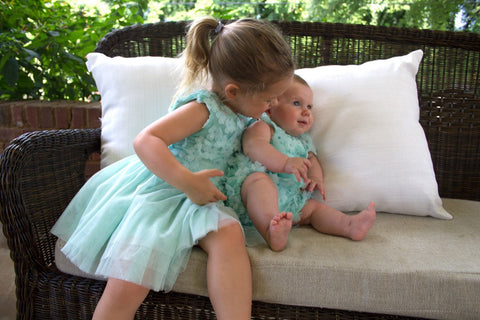 Too Too Cute Floral Aqua Tutu Dress