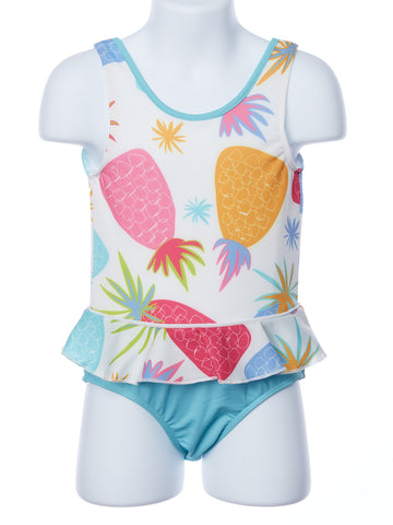 Three Friends Pineapple One Piece Swimsuit