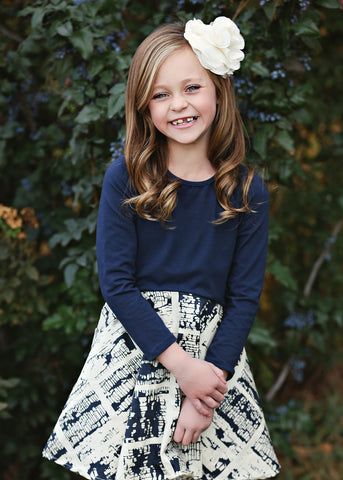 Mabel + Honey Girls Wheel In The Sky Print Dress