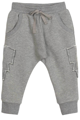 Paper Wings Boy's Grey Sweatpants