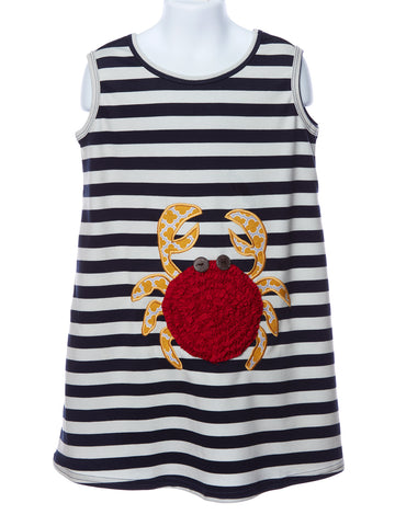 LaJenns Girl's Crab Applique Dress
