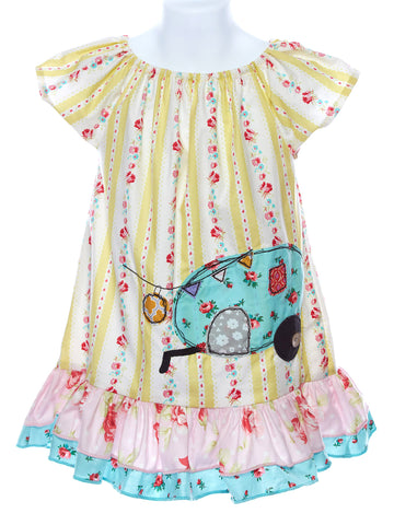 LaJenns Girl's Camper Applique Dress