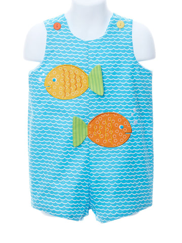 One Fish, Two Fish - Wave Print Shortall