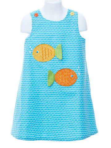 One Fish, Two Fish - Wave Print Jumper
