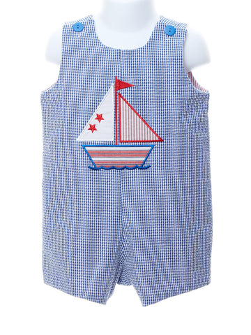 Seeing Double Reversible Shortall - Sailboat & Dump Truck