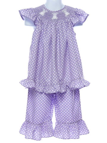 Mom & Me Girls Smocked Bunny Set