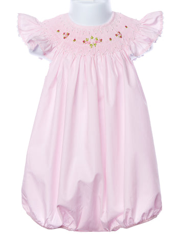 Mom & Me Pink Smocked Angel Wing Bubble