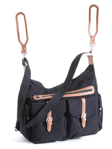 Rambler Satchel, Versatile Carry All Tote in Obsidian