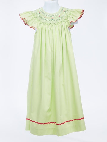 Adorable Apple Green Smocked Bishop Dress